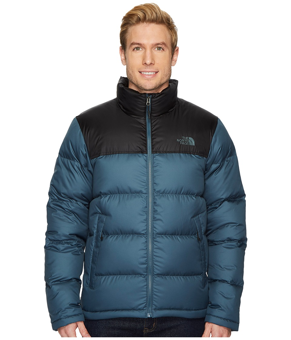 The North Face Nuptse Jacket (Conquer Blue/TNF Black) Men