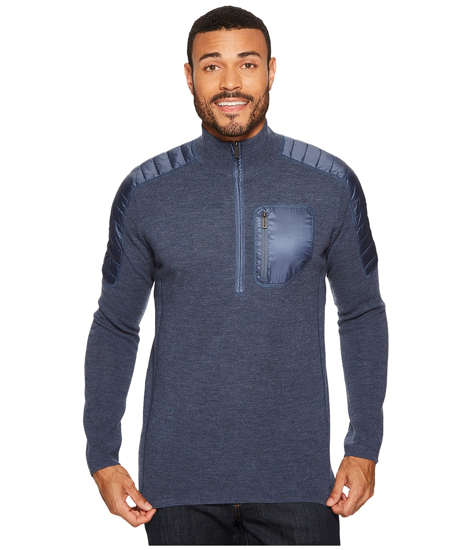 Smartwool Ski Ninja 1/2 Zip Sweater (Dark Blue Steel Heather) Men
