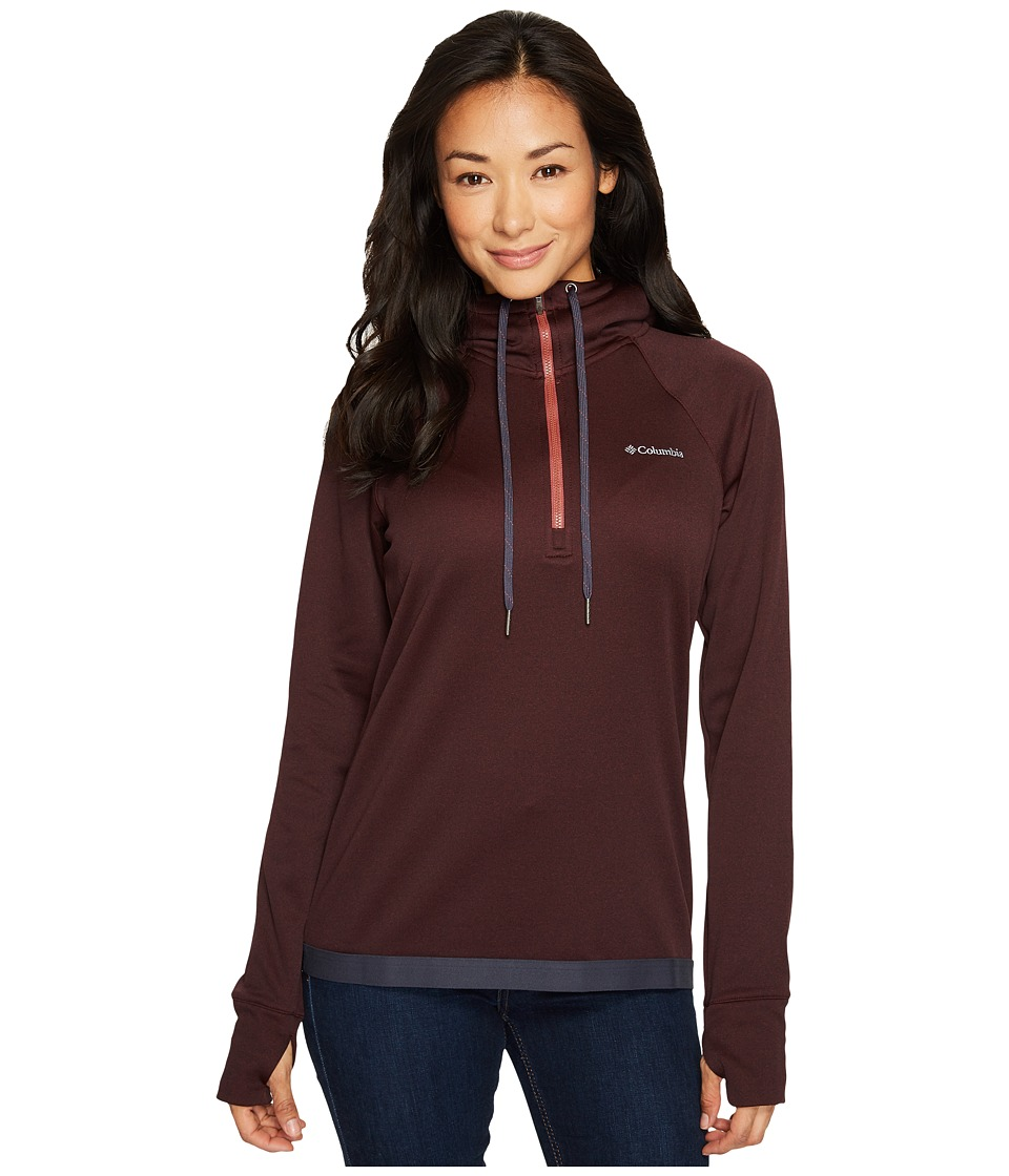 Columbia Dyer Peak 1/2 Zip Jacket (Bloodstone/India Ink) Women