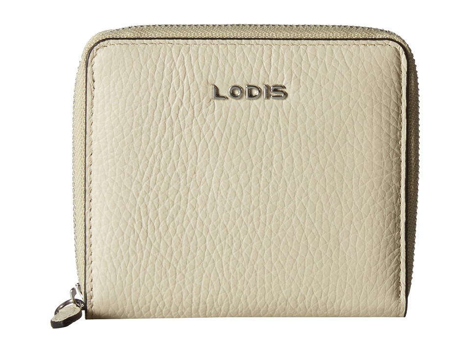 Lodis Accessories - Valencia Amaya Zip French Wallet (Cream) Wallet Handbags