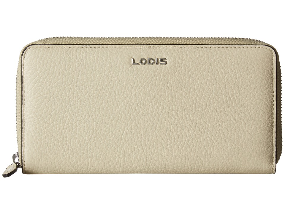 Lodis Accessories - Valencia Ada Zip Wallet (Cream) Wallet Handbags