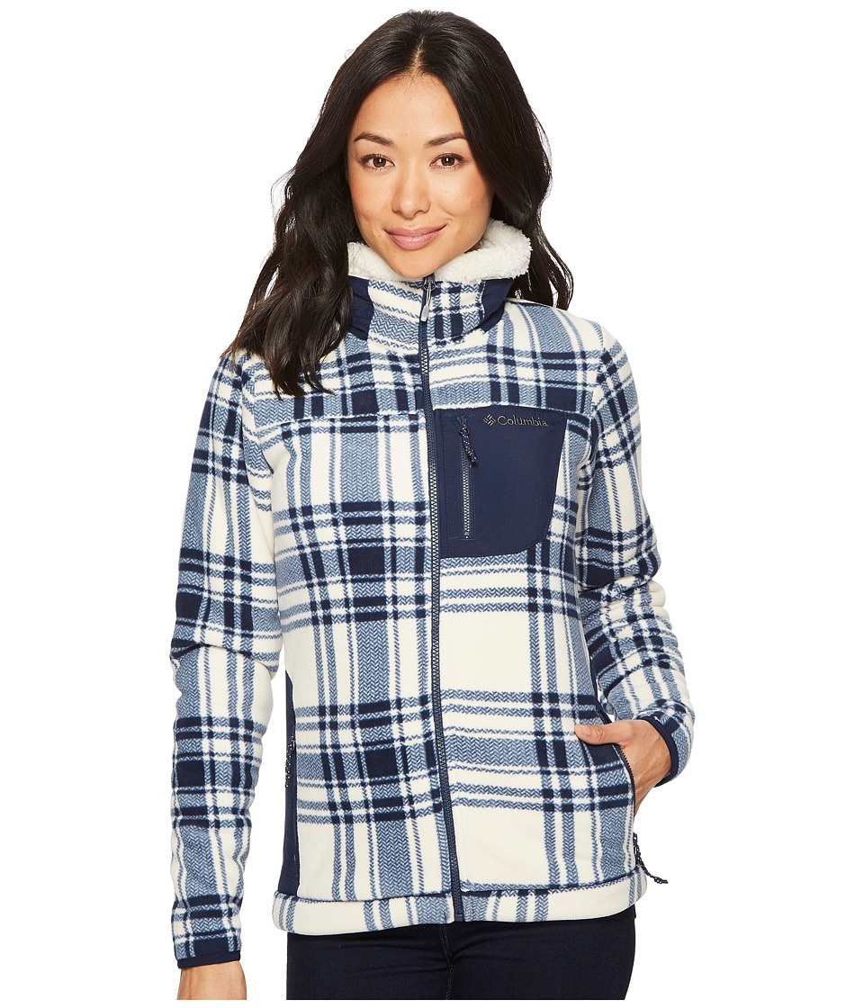 Columbia Panorama Ridge Fleece Jacket (Collegiate Navy Traditional Plaid) Women