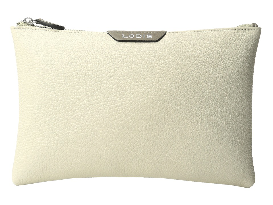 Lodis Accessories - Valencia Flat Pouch (Cream) Travel Pouch