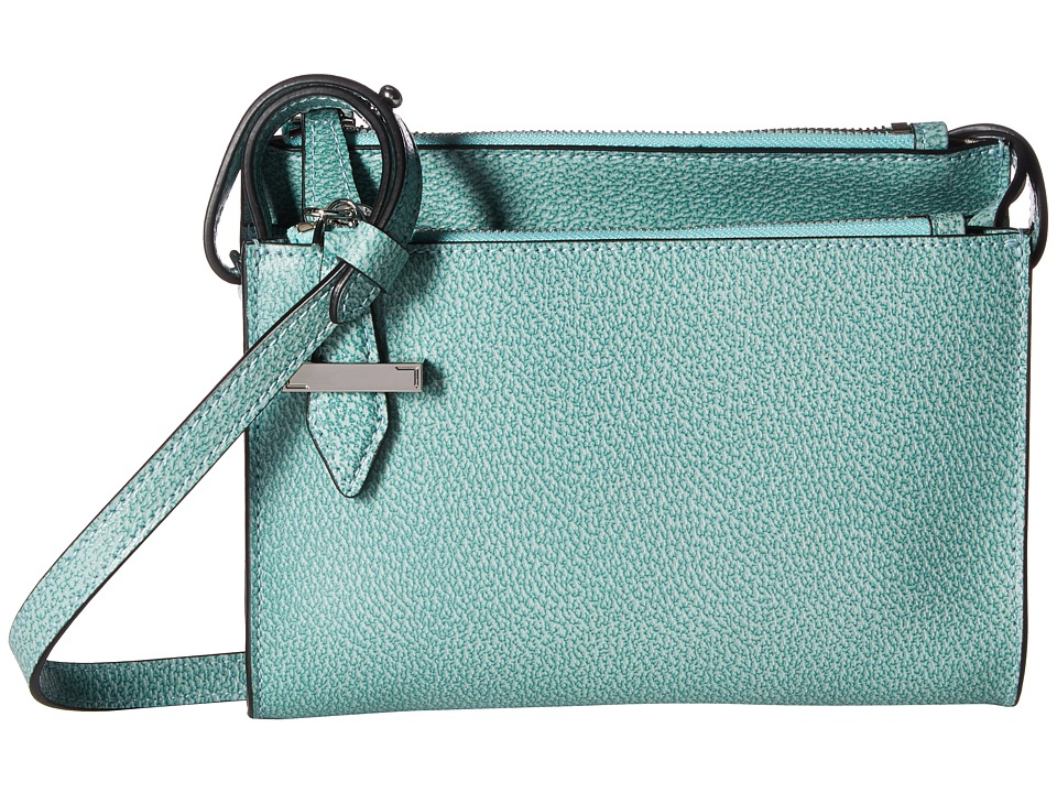 Lodis Accessories - Stephanie RFID Under Lock Key Trisha Double Zip Wallet on a String (Ocean) Wallet Handbags