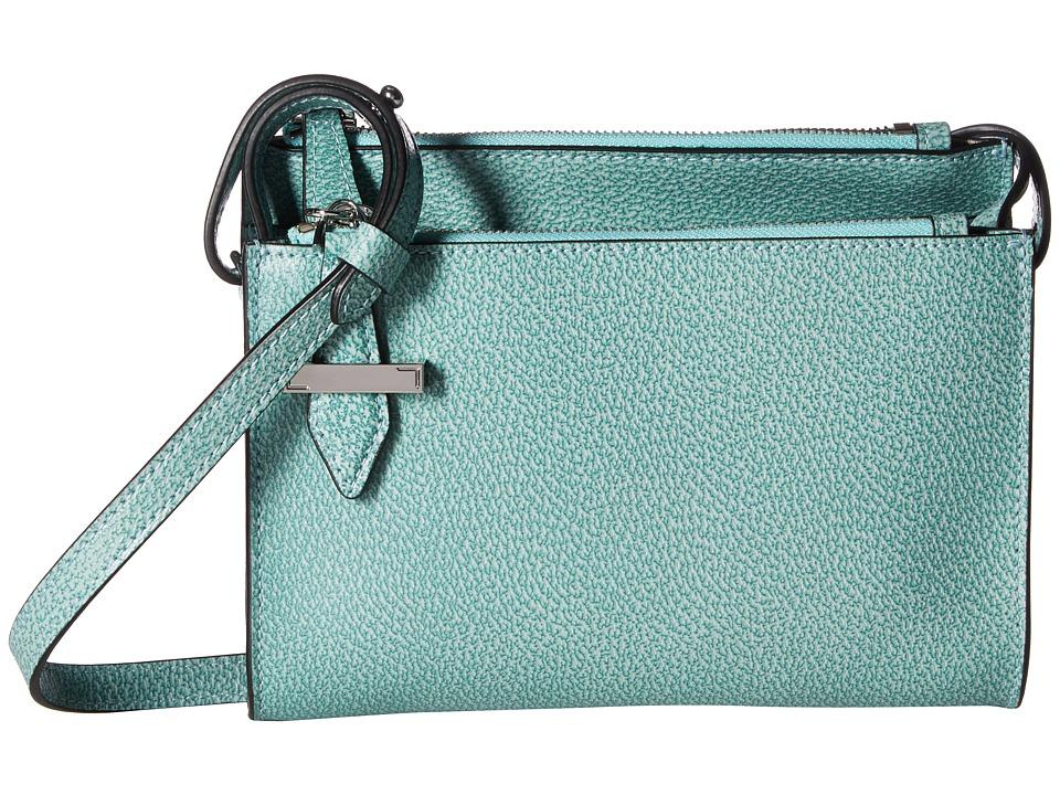 Lodis Accessories - Stephanie RFID Under Lock Key Trisha Double Zip Wallet on a String (Ocean) Wallet Handbags