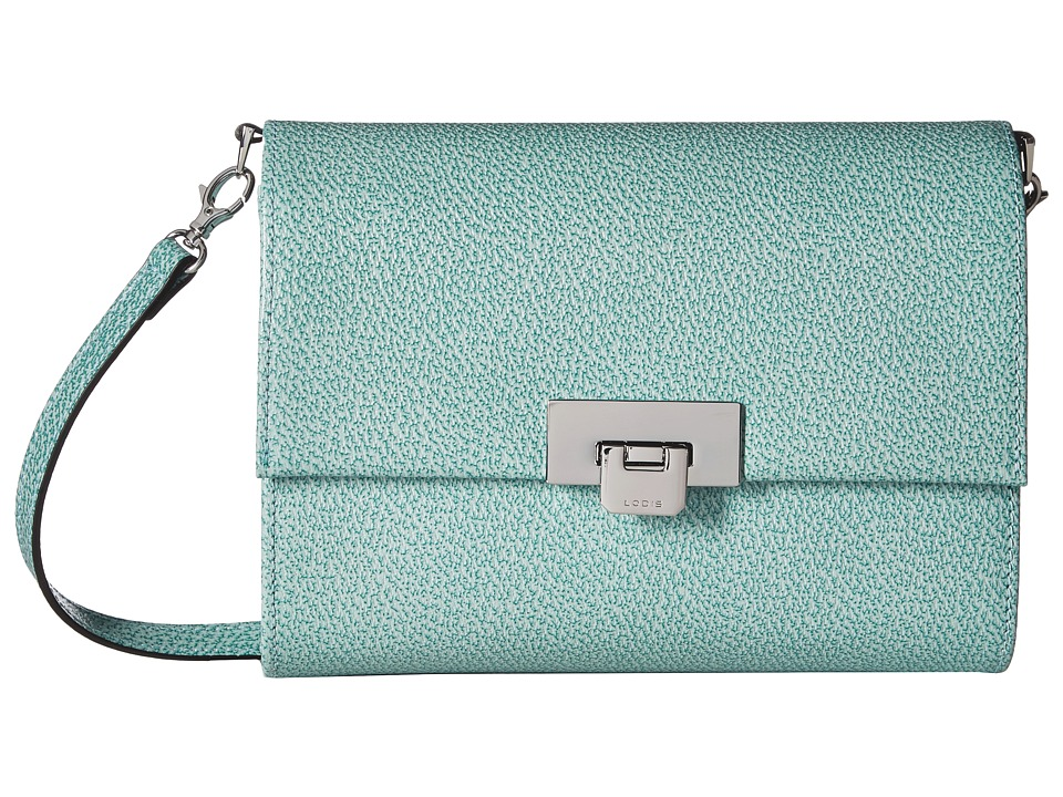 Lodis Accessories - Stephanie RFID Under Lock Key Eden Small Crossbody (Ocean) Cross Body Handbags