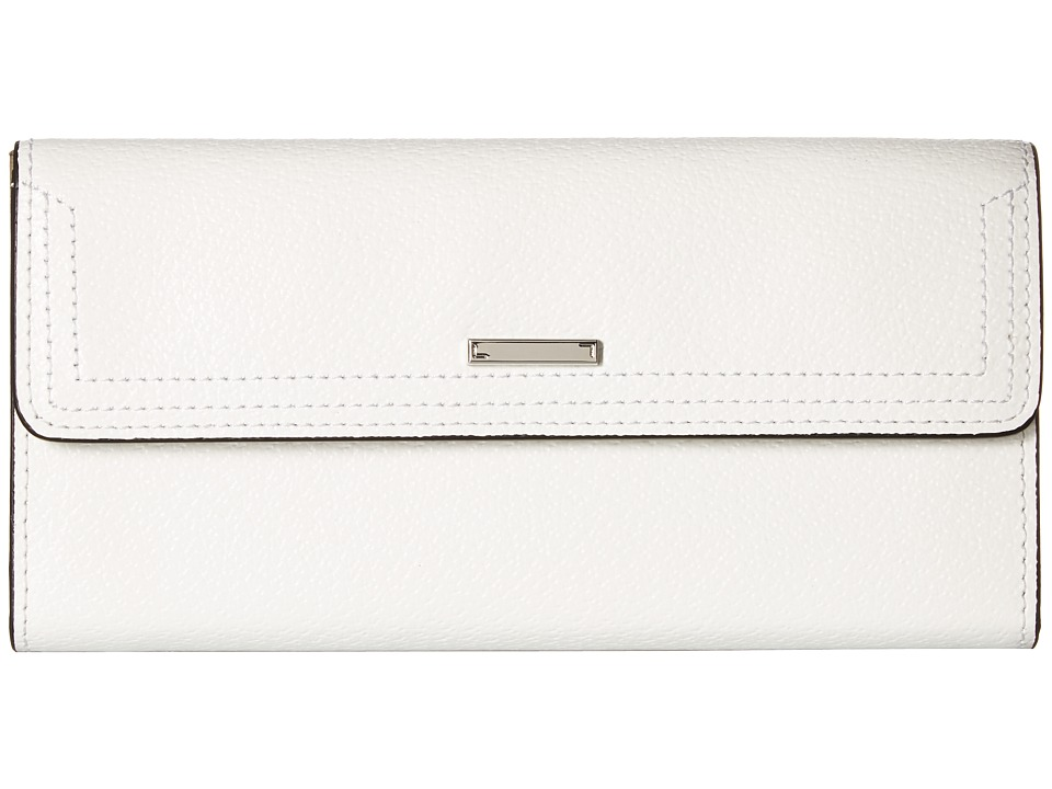 Lodis Accessories - Stephanie RFID Under Lock Key Checkbook Clutch (White) Checkbook Wallet