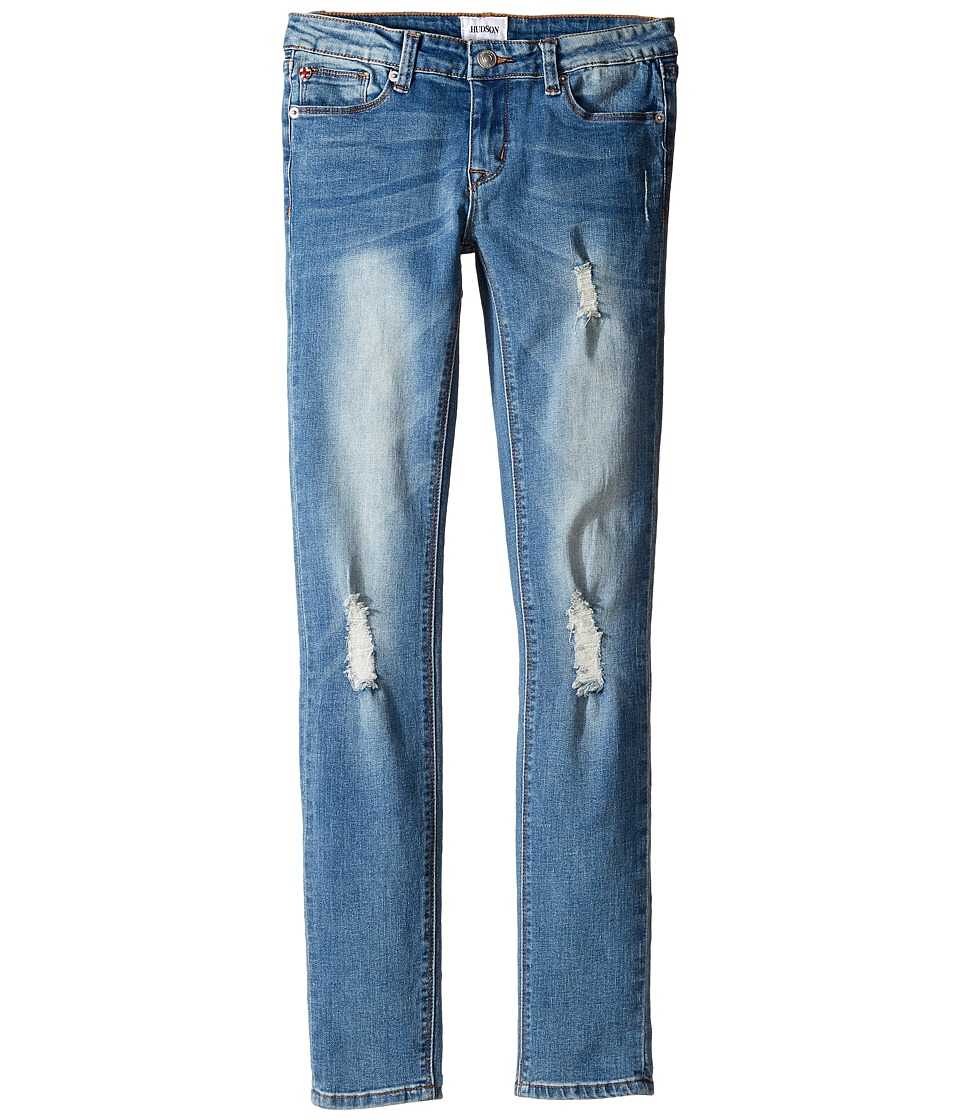 Hudson Kids - Imagine Skinny with Destruction in Northern Light (Big Kids) (Northern Light) Girl's Jeans