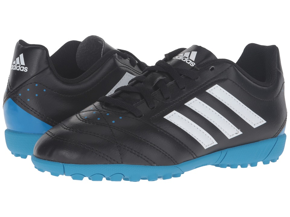 adidas Kids - Goletto V TF J (Little Kid/Big Kid) (Black/White/Solar Blue) Kids Shoes