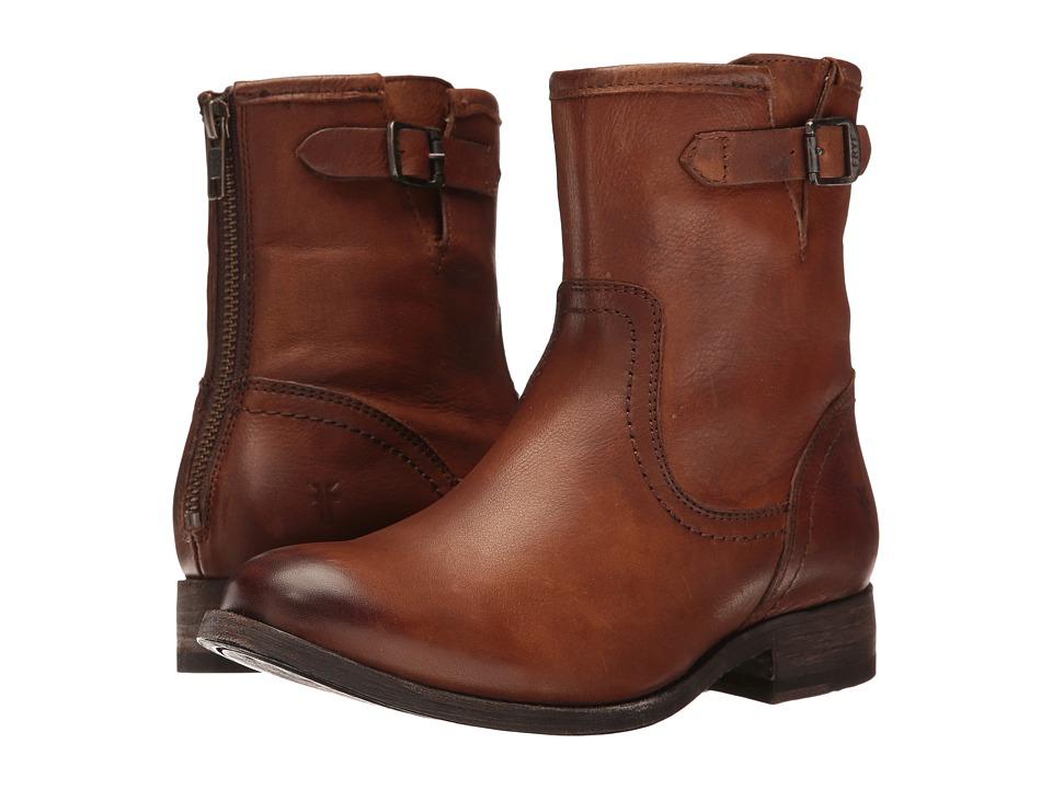 Frye - Pippa Back Zip Short (Cognac) Cowboy Boots