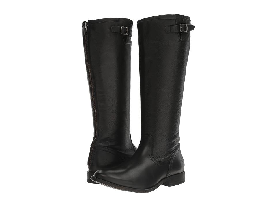 Frye - Pippa Back Zip Tall (Black) Women's Zip Boots