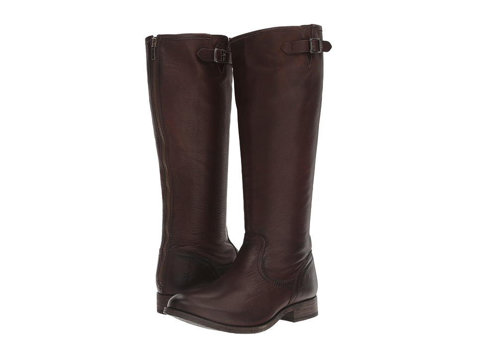 Frye Pippa Back Zip Tall (Dark Brown) Women