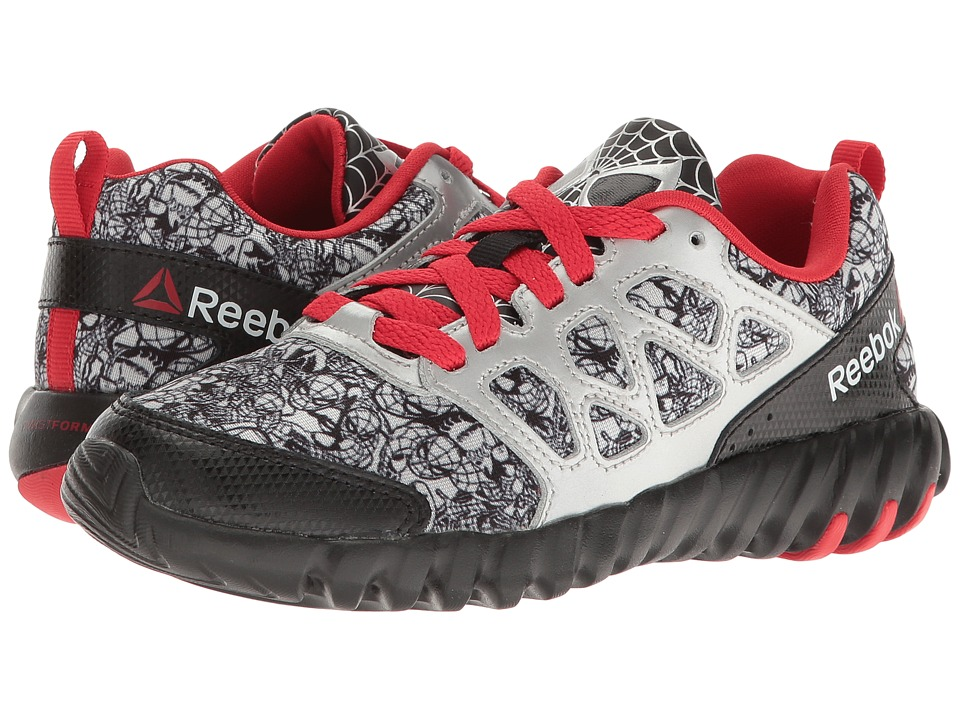 Reebok Kids - Twistform Blaze Spiderman (Little Kid) (Black/Silver Metallic) Kid's Shoes