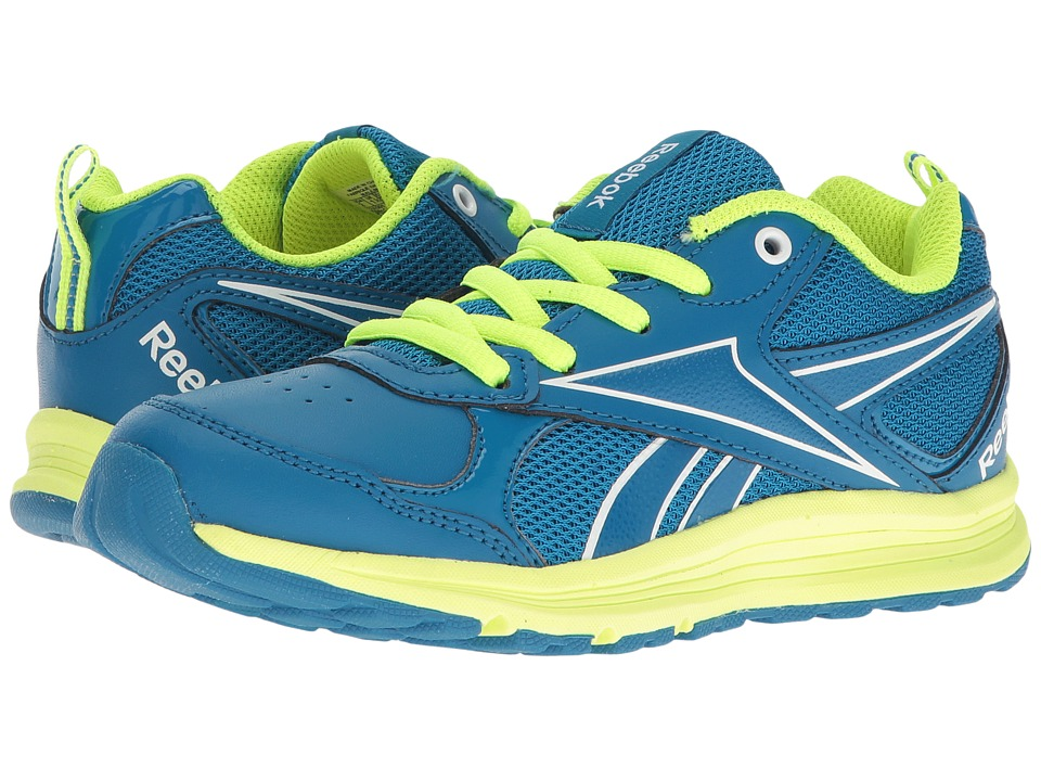 Reebok Kids - Almotio RS Brights (Little Kid/Big Kid) (Instinct Blue/Solar Yellow) Kid's Shoes