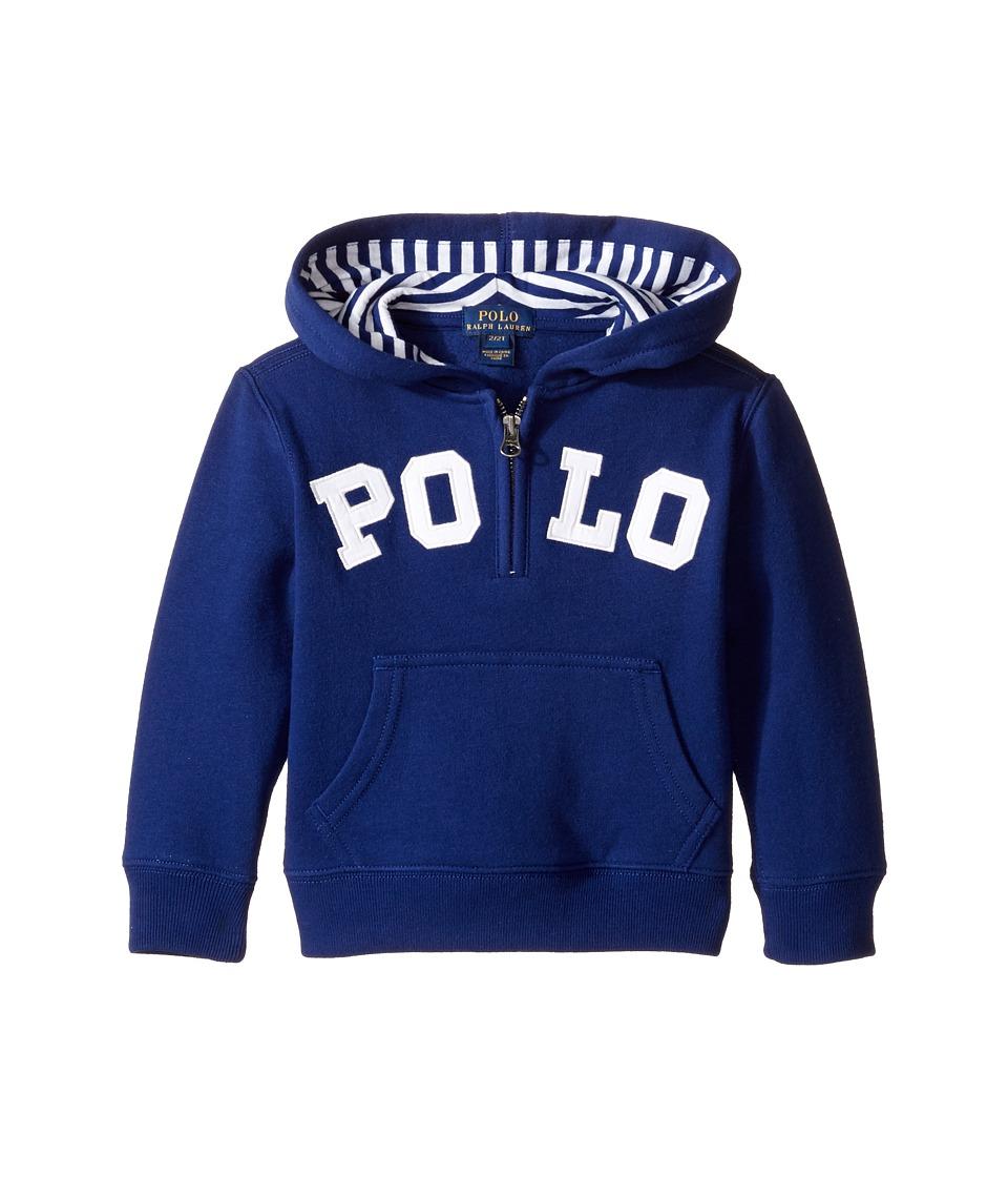 Polo Ralph Lauren Kids - Magic Fleece Long Sleeve Pullover Hoodie (Toddler) (Driver Navy) Boy's Sweatshirt