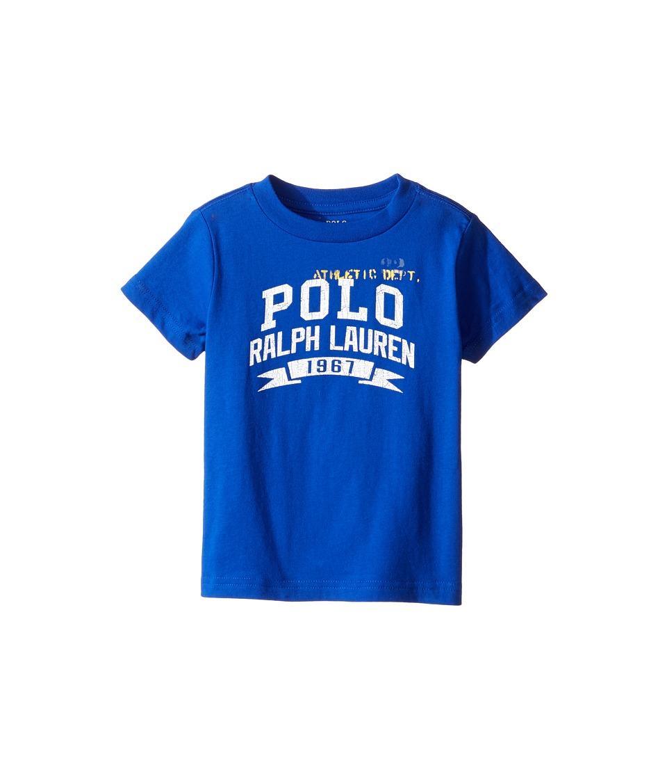 Polo Ralph Lauren Kids - 30/1 Jersey Graphic Tee (Toddler) (Pure Sapphire) Boy's T Shirt