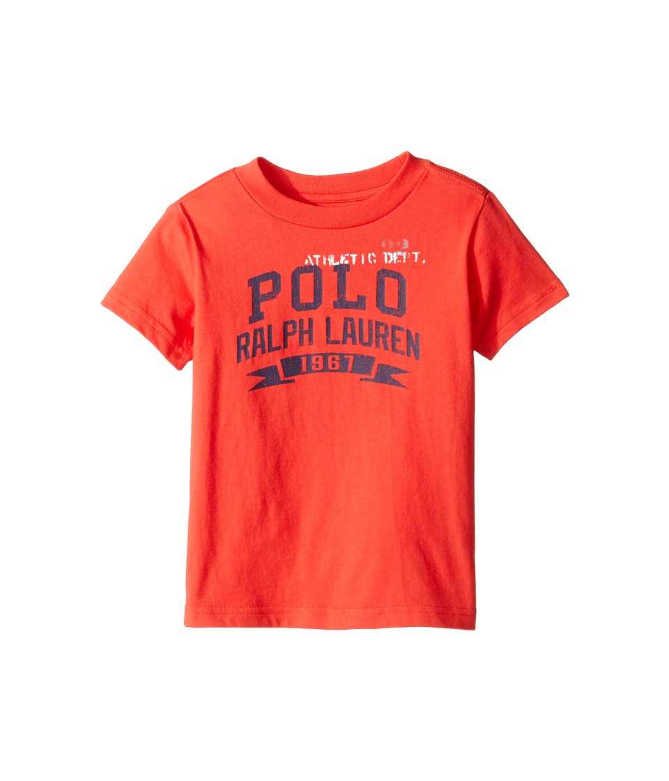 Polo Ralph Lauren Kids - 30/1 Jersey Graphic Tee (Toddler) (Red Reef) Boy's T Shirt