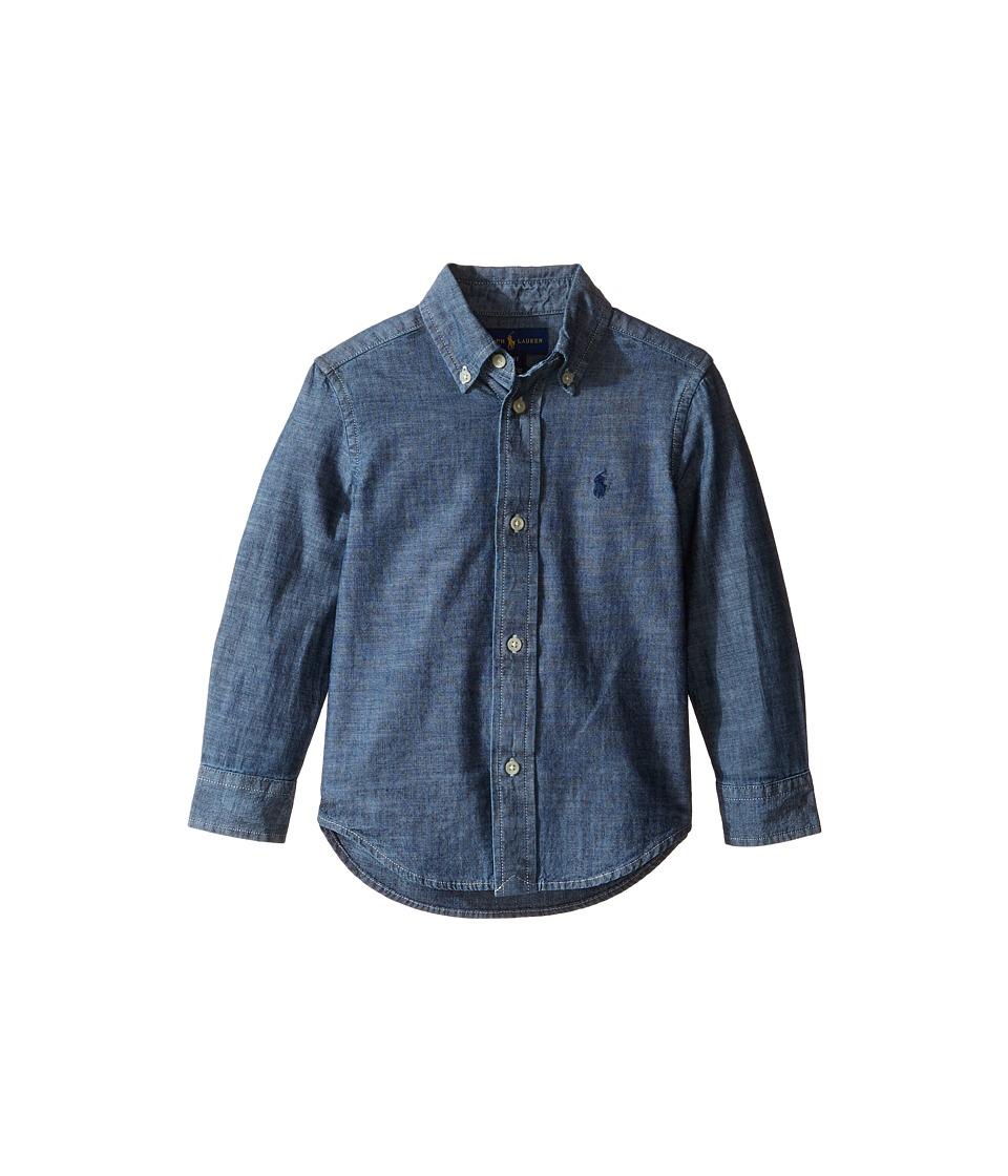 Polo Ralph Lauren Kids - Chambray Blake Shirt (Toddler) (Dark Blue) Boy's Clothing