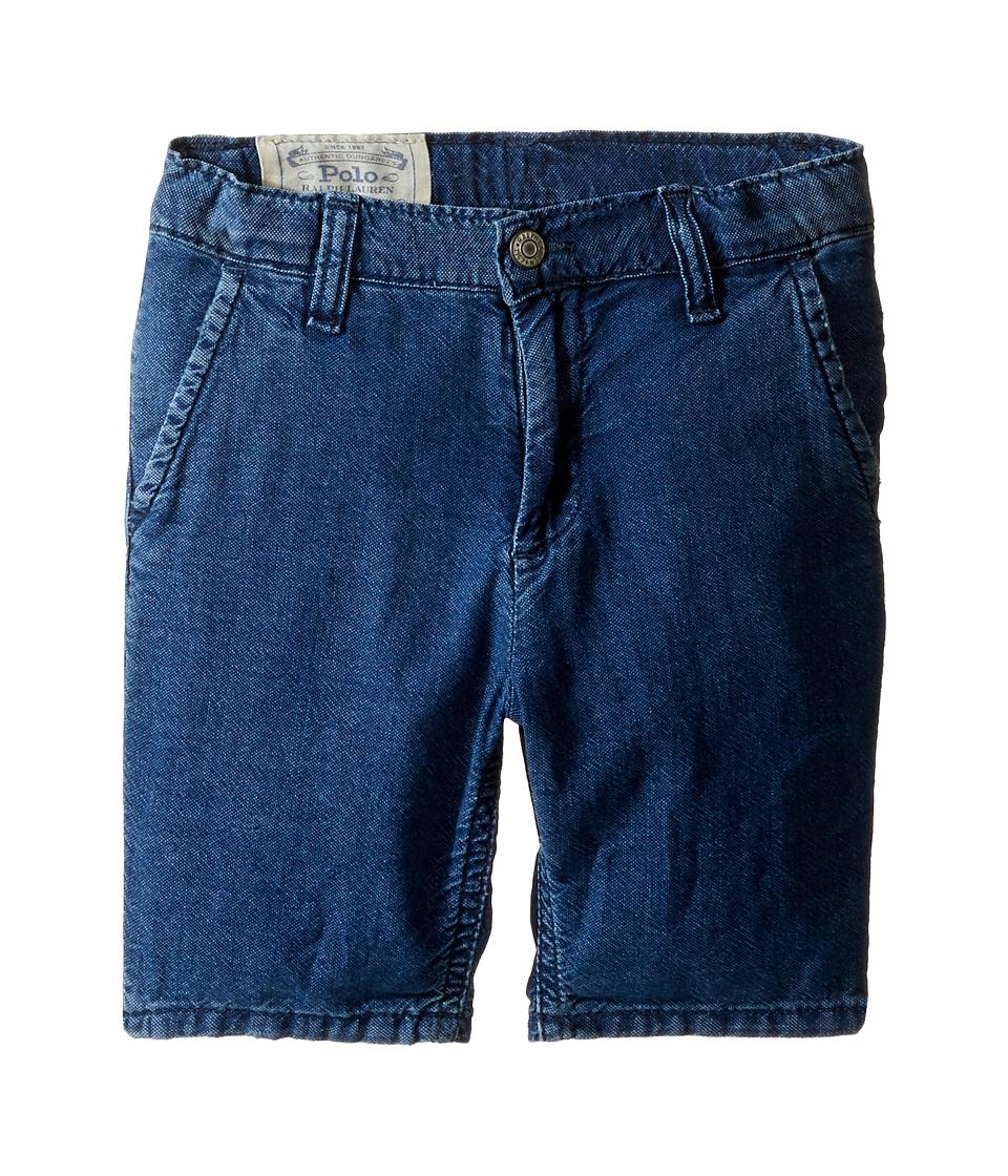 Polo Ralph Lauren Kids - Denim Rolled Shorts (Little Kids) (Justin Wash) Boy's Shorts