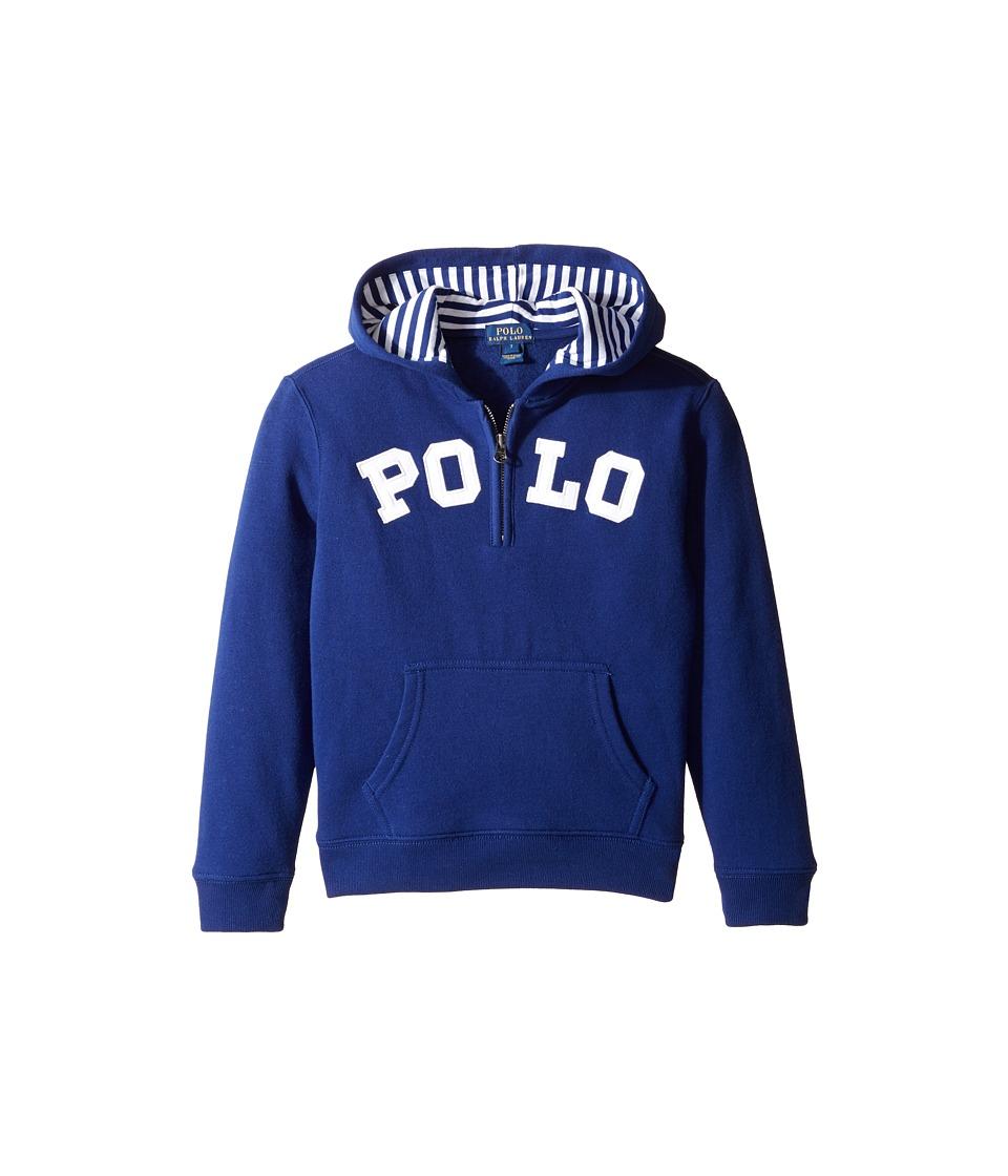 Polo Ralph Lauren Kids - Magic Fleece Long Sleeve Pullover Hoodie (Little Kids/Big Kids) (Driver Navy) Boy's Sweatshirt