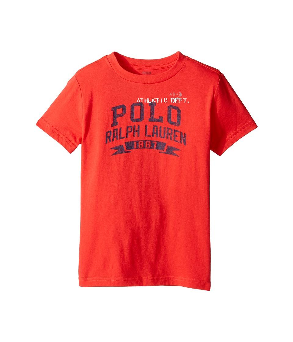 Polo Ralph Lauren Kids - 30/1 Jersey Graphic Tee (Little Kids/Big Kids) (Red Reef) Boy's T Shirt