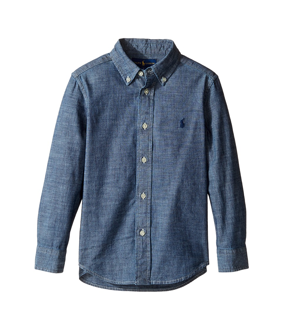 Polo Ralph Lauren Kids - Chambray Blake Shirt (Little Kids/Big Kids) (Dark Blue) Boy's Clothing