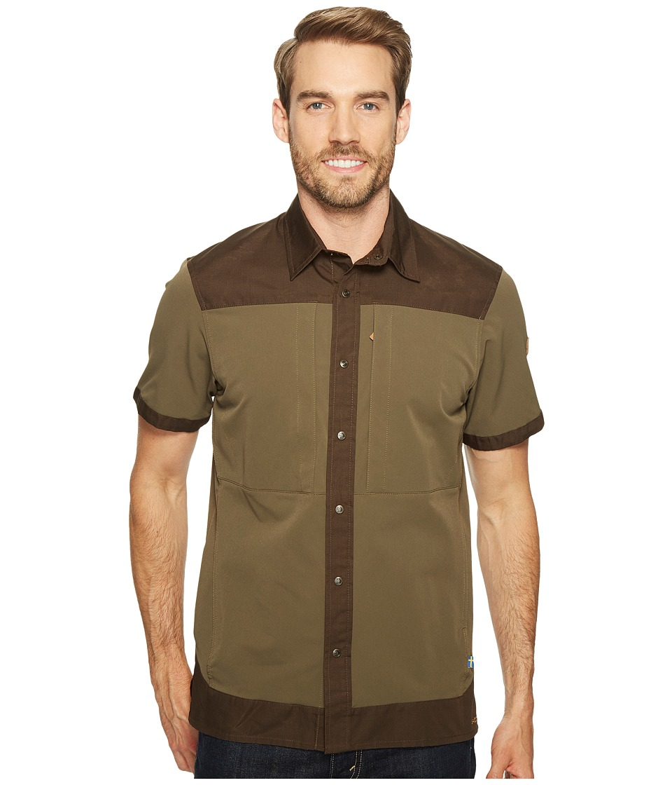 Fjallraven - Keb Trek Short Sleeve Top (Tarmac) Men's Short Sleeve Button Up