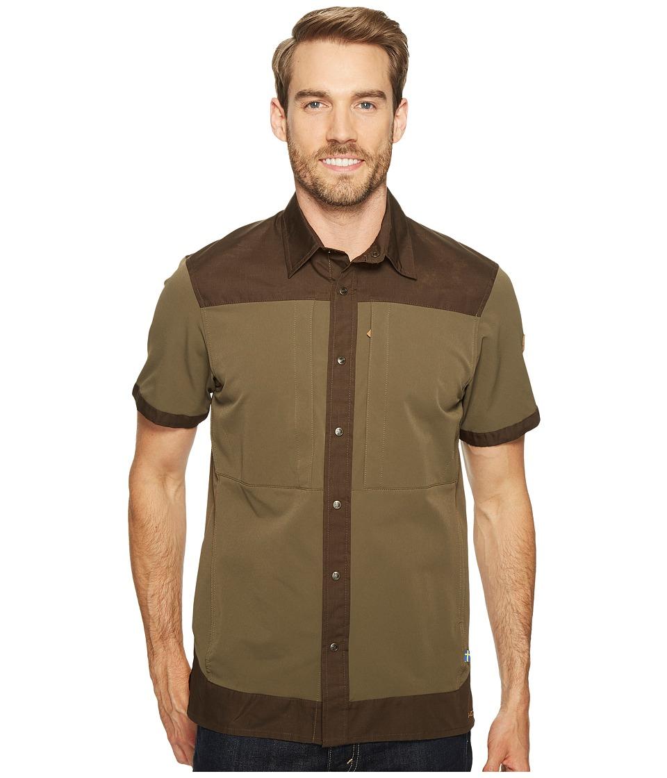Fjallraven - Keb Trek Short Sleeve Top (Tarmac) Men's Short Sleeve Button Up