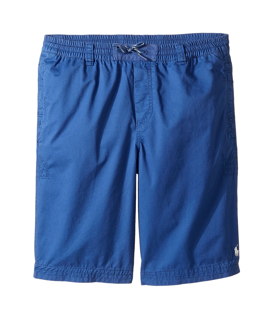 Polo Ralph Lauren Kids - Broken Twill Relaxed Shorts (Big Kids) (Sporting Blue) Boy's Shorts