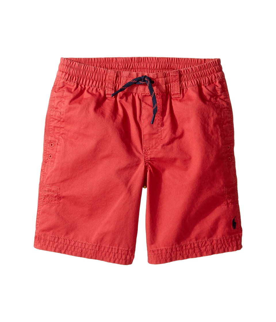 Polo Ralph Lauren Kids - Broken Twill Relaxed Shorts (Big Kids) (Spring Red) Boy's Shorts