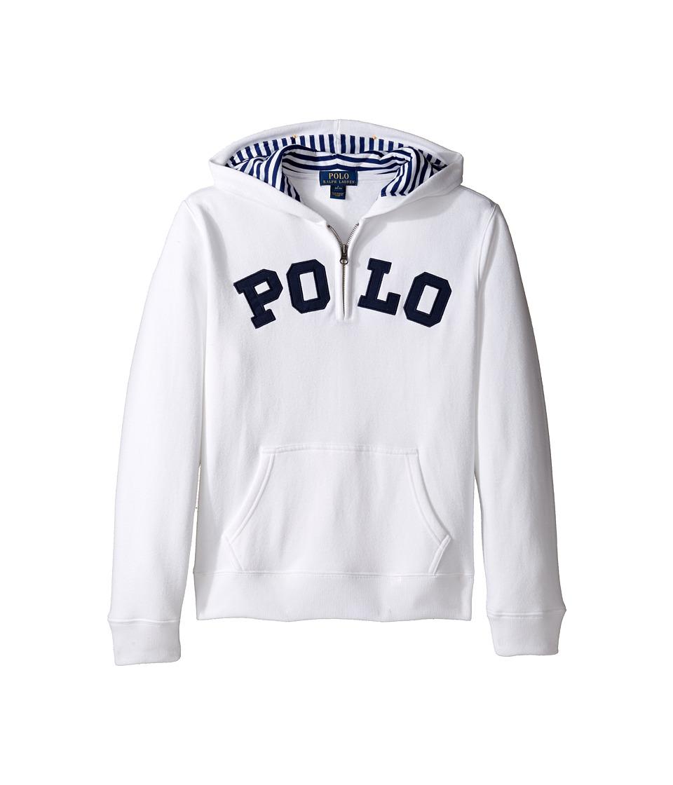 Polo Ralph Lauren Kids - Magic Fleece Long Sleeve Pullover Hoodie (Big Kids) (White) Boy's Sweatshirt