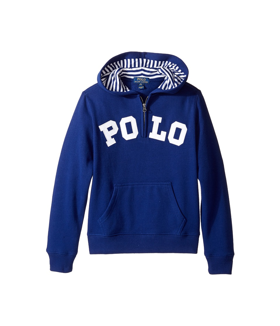 Polo Ralph Lauren Kids - Magic Fleece Long Sleeve Pullover Hoodie (Big Kids) (Driver Navy) Boy's Sweatshirt