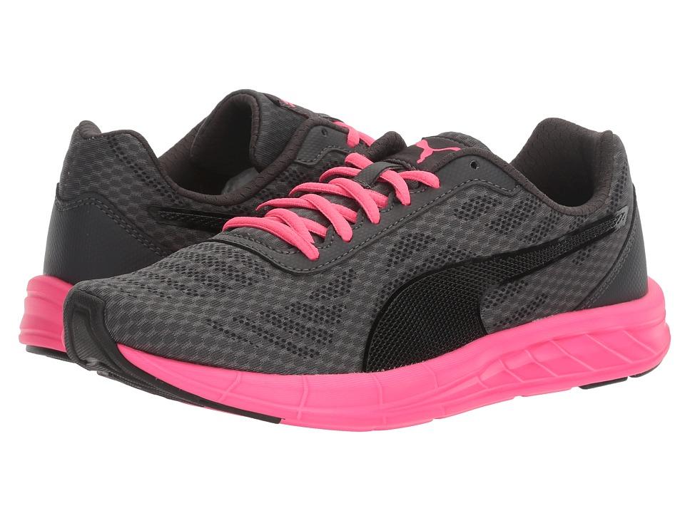PUMA - Meteor (Puma Black/Asphalt/Knockout Pink) Women's Lace up casual Shoes