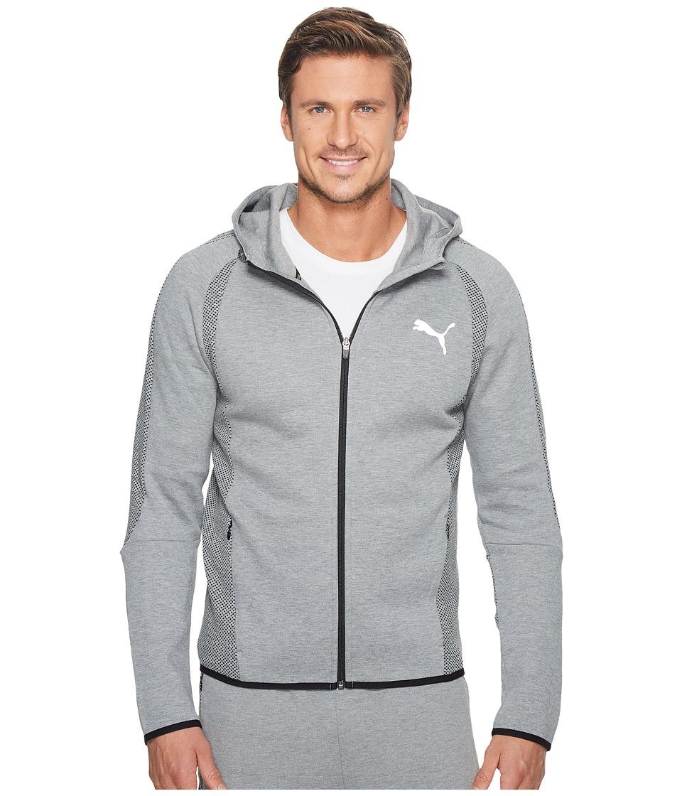PUMA - Evostripe Ultimate Full Zip Hoodie (Medium Gray Heather) Men's Sweatshirt
