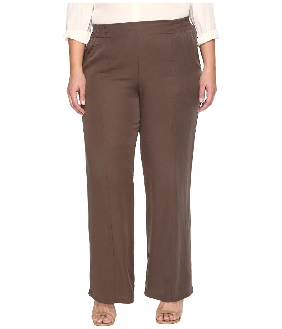 B Collection by Bobeau Curvy - Plus Size Camilla Trousers (Olive 1) Women's Dress Pants
