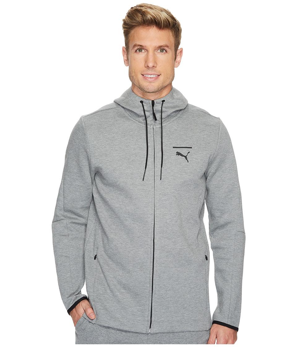 PUMA - Evo Core Full Zip Hoodie (Medium Gray Heather) Men's Sweatshirt