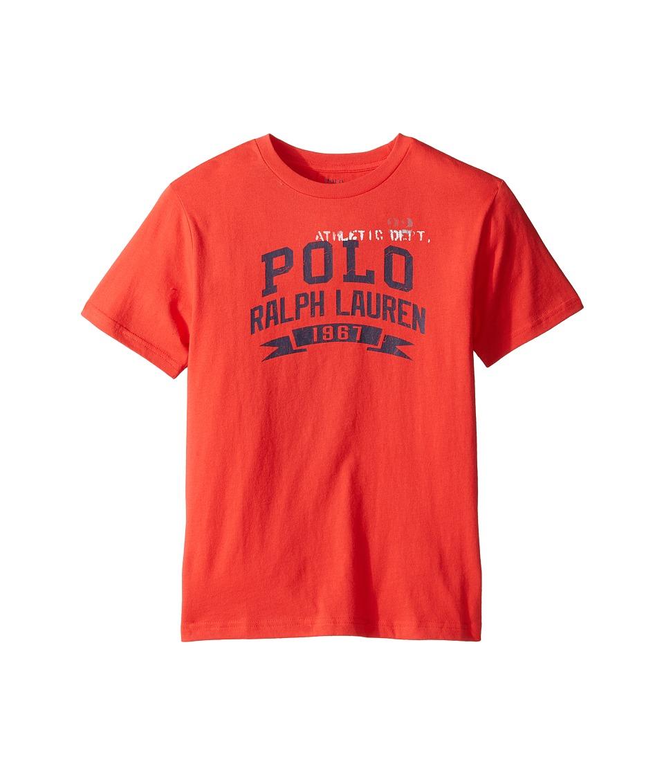 Polo Ralph Lauren Kids - 30/1 Jersey Graphic Tee (Big Kids) (Red Reef) Boy's T Shirt