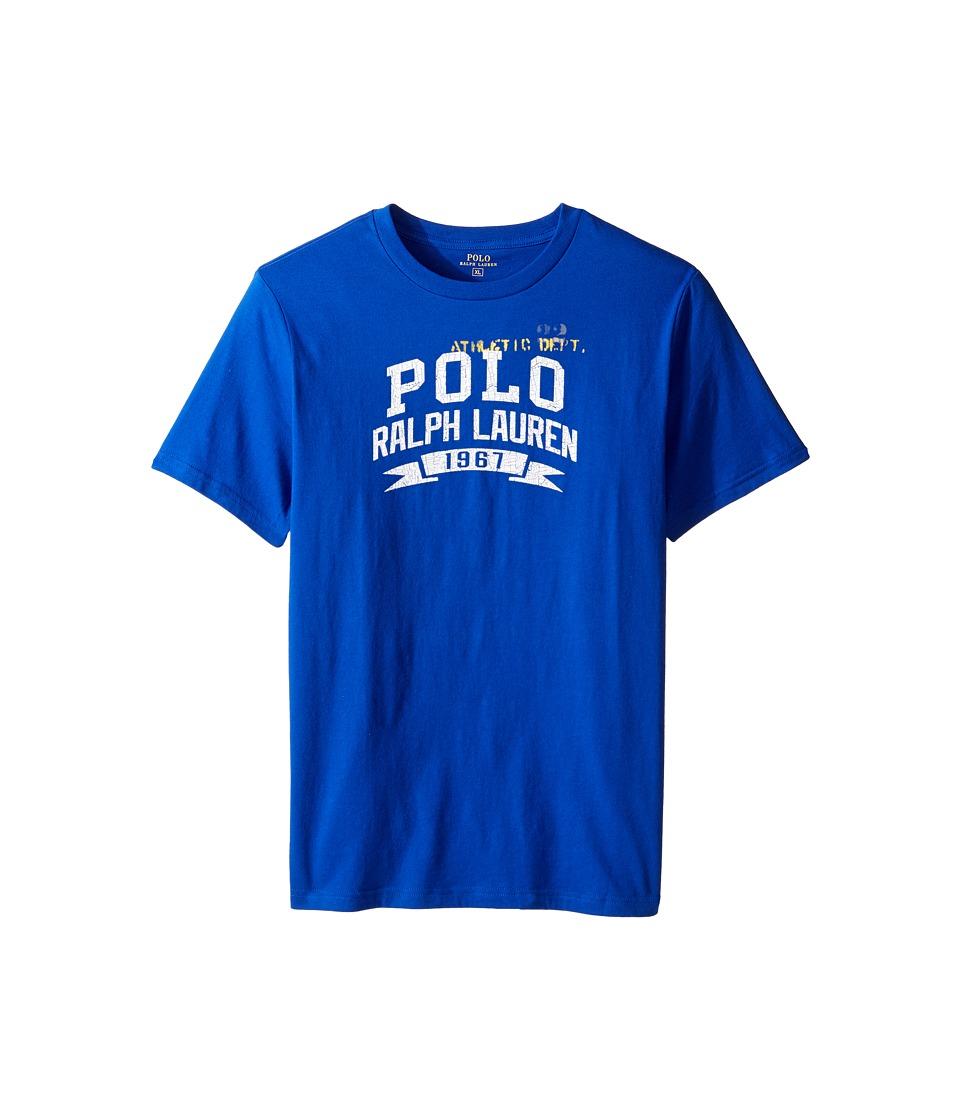 Polo Ralph Lauren Kids - 30/1 Jersey Graphic Tee (Big Kids) (Pure Sapphire) Boy's T Shirt