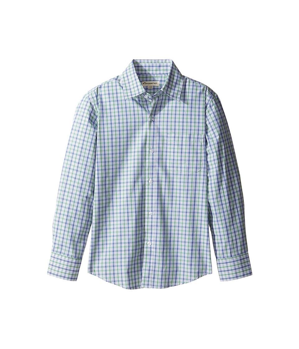 Appaman Kids - The Standard Shirt (Toddler/Little Kids/Big Kids) (Blue/Green Plaid) Boy's Long Sleeve Button Up