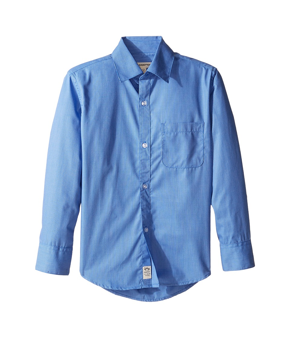 Appaman Kids - The Standard Shirt (Toddler/Little Kids/Big Kids) (Blue Windowpane) Boy's Long Sleeve Button Up