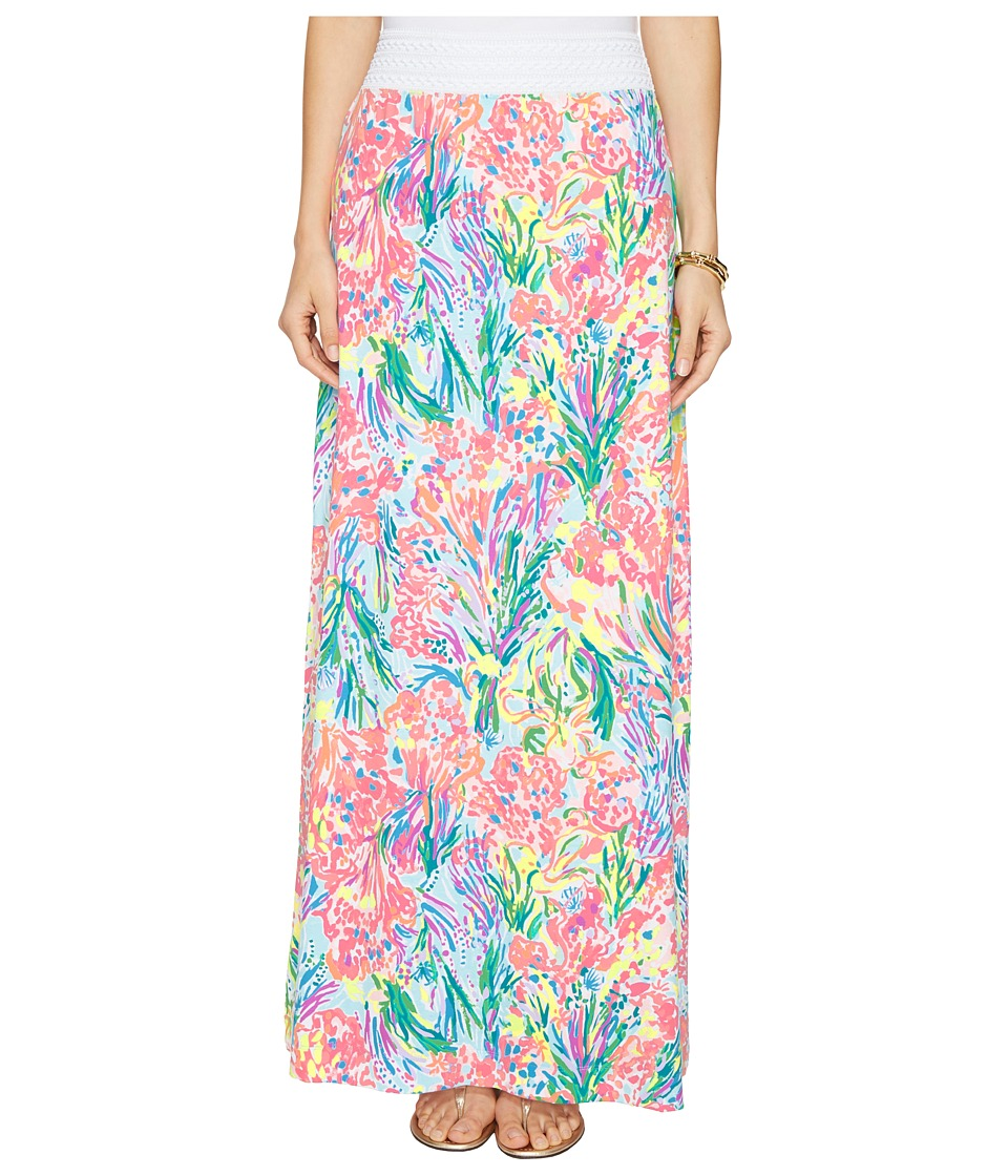Lilly Pulitzer Nola Beach Maxi Skirt (Multi Fan Sea Pants) Women