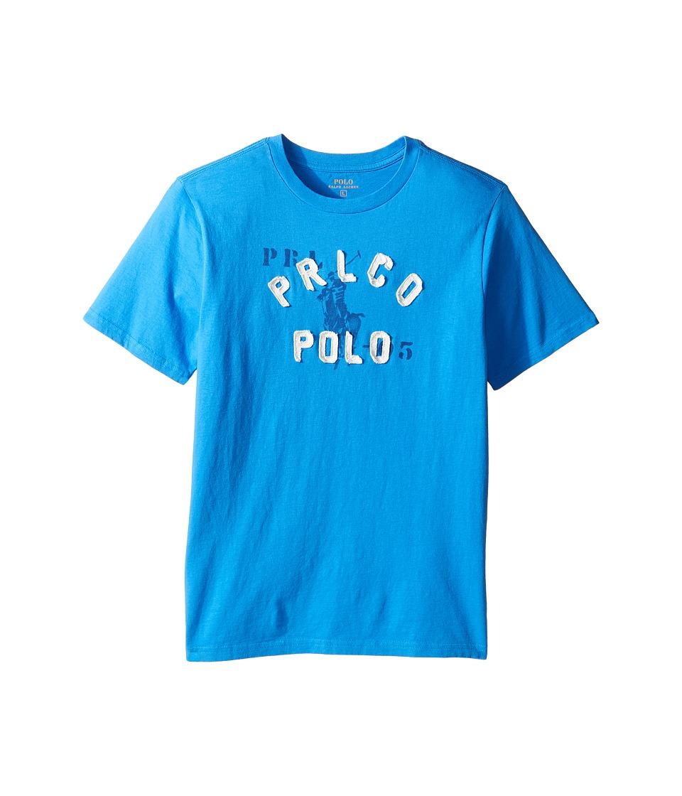 Polo Ralph Lauren Kids - Jersey Graphic Tee (Big Kids) (True Royal) Boy's T Shirt