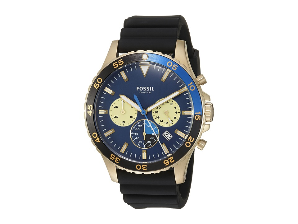 Fossil - Crewmaster Sport Silicone - CH3074 (Blue) Watches