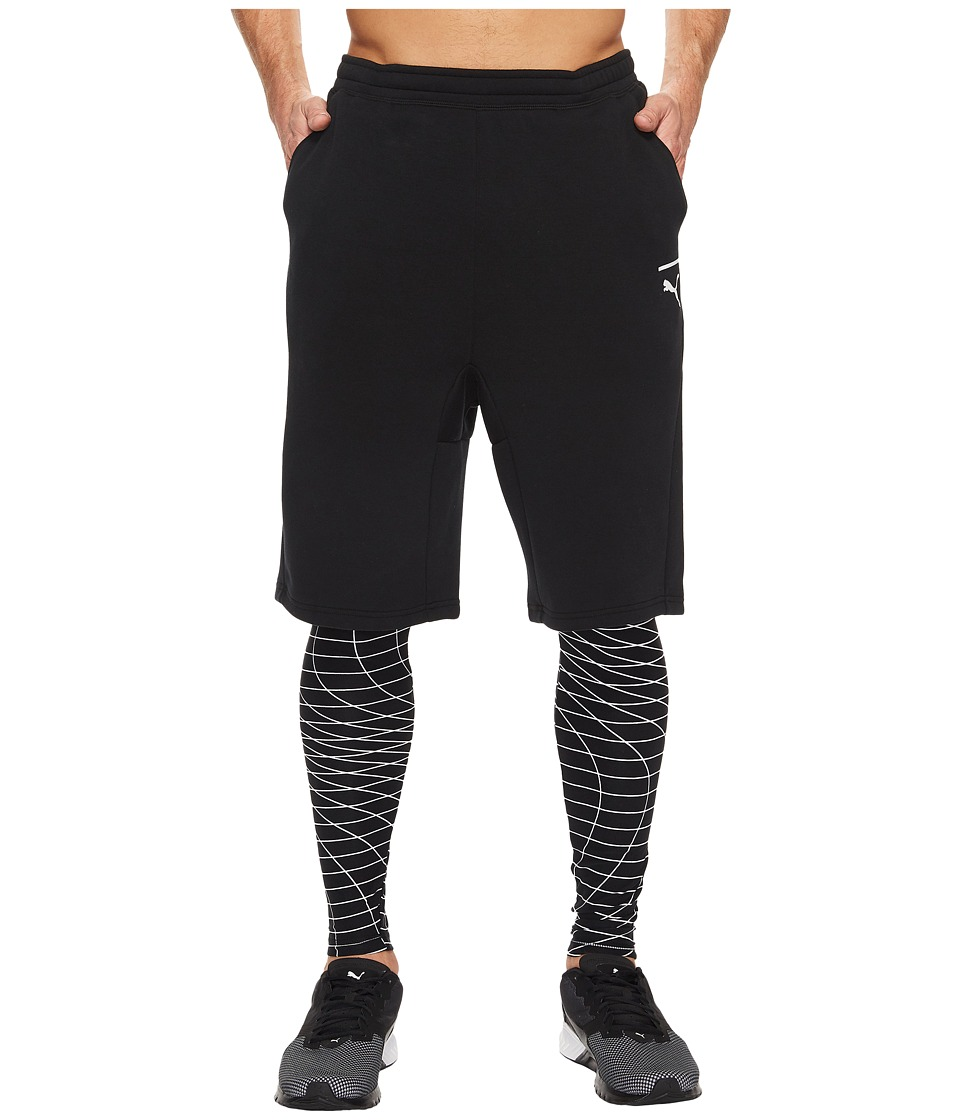 PUMA - Evo Tights 2-in-1 Grid (PUMA Black) Men's Clothing