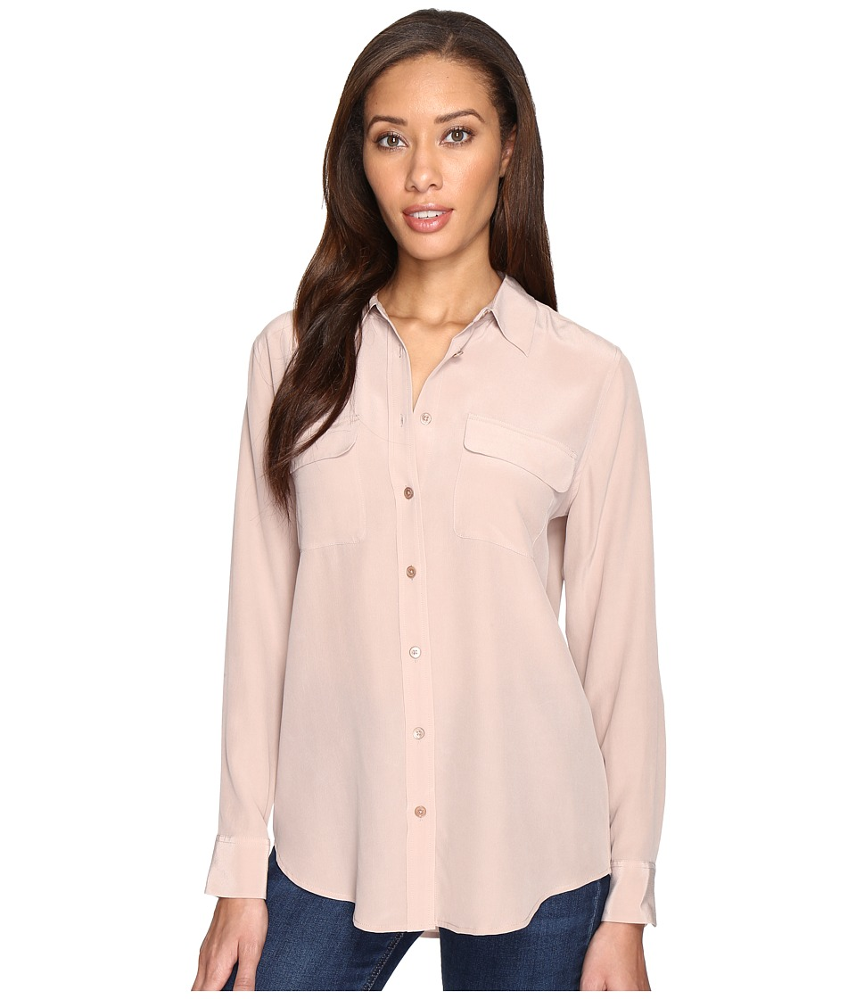 EQUIPMENT - Slim Signature Blouse (Rose Smoke) Women's Blouse