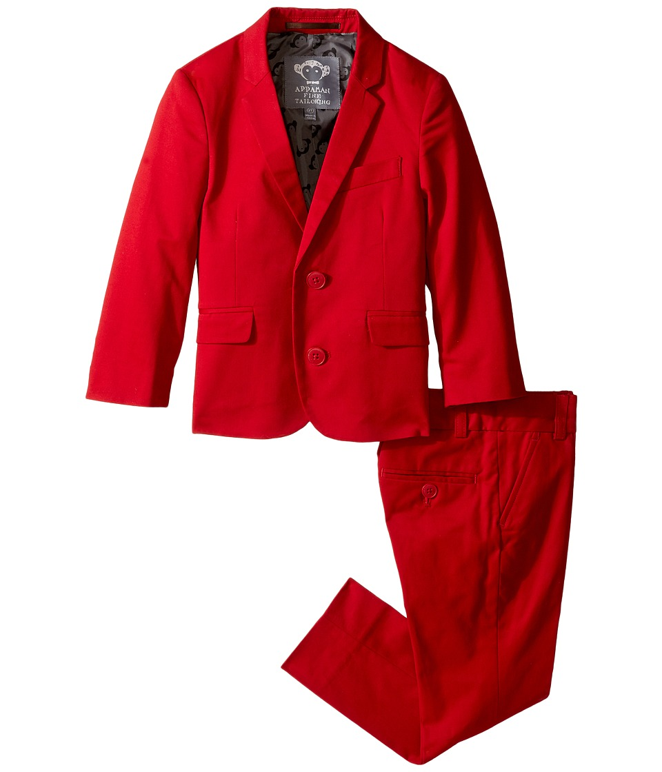 Appaman Kids - Two-Piece Mod Suit (Toddler/Little Kids/Big Kids) (Red) Boy's Suits Sets