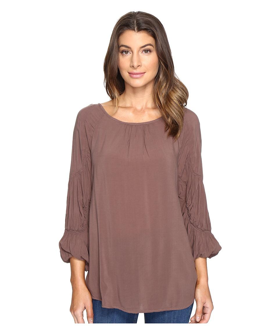 XCVI - Hope Top (Warm Stone) Women's Clothing