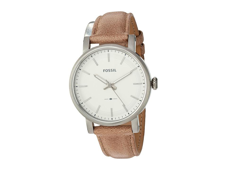 Fossil - Original Boyfriend Sport Leather - ES4179 (Silver) Watches