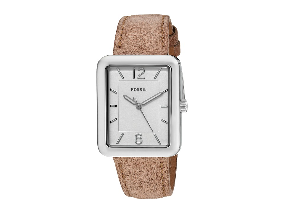 Fossil - Atwater Leather - ES4243 (Silver) Watches
