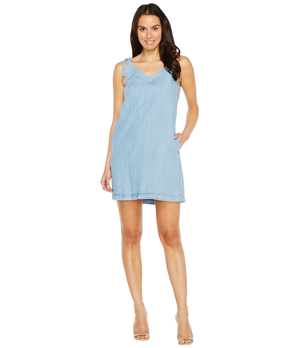 Lilla P - Tie Strap Dress (Denim Blue) Women's Dress